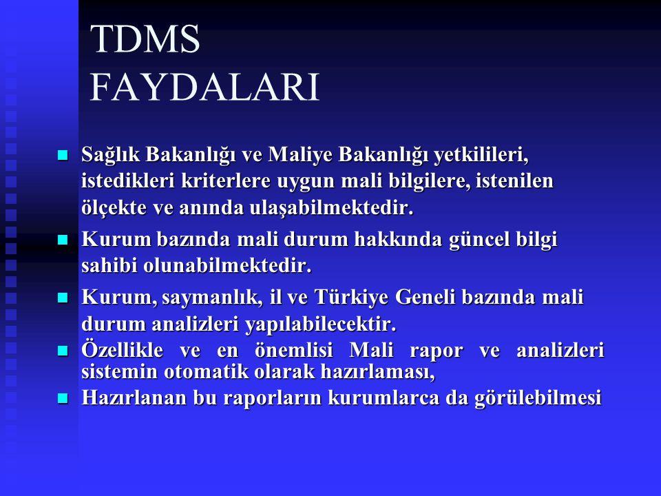 TDMS FAYDALARI