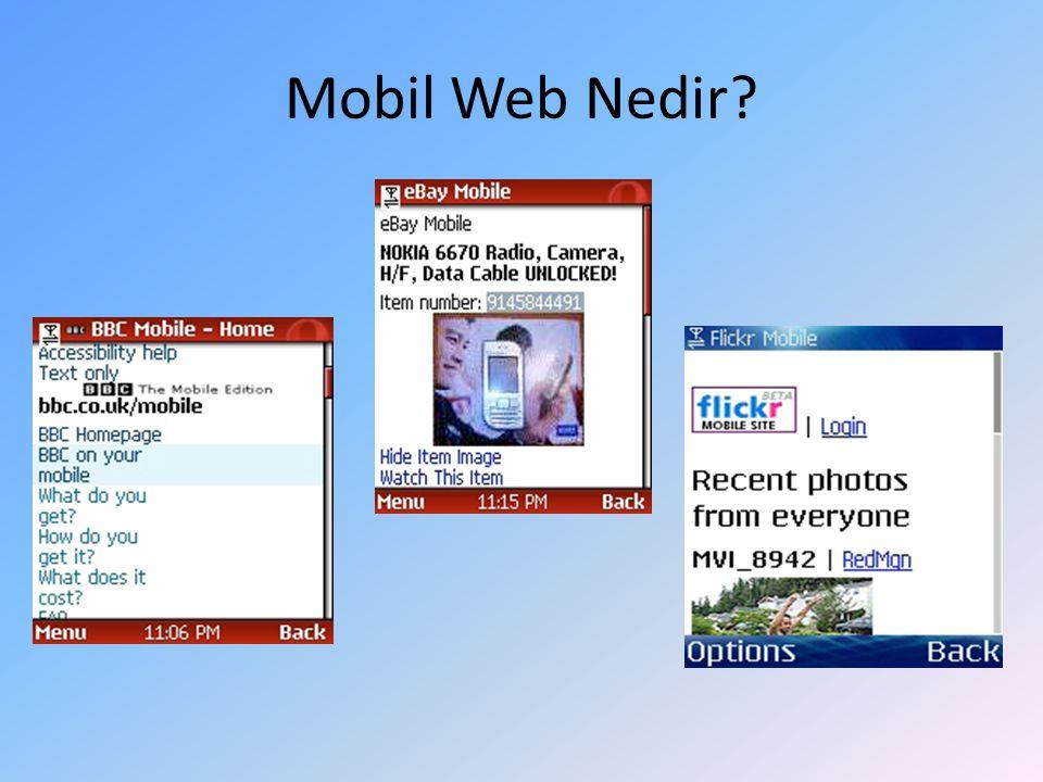 Mobil Web Nedir