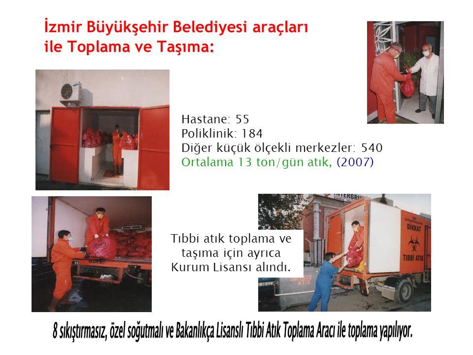 İzmir Büyükşehir Belediyesi araçları ile Toplama ve Taşıma: