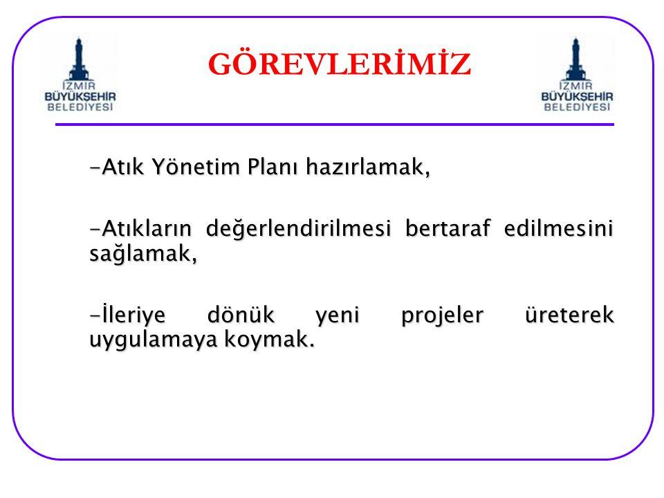 GÖREVLERİMİZ -Atık Yönetim Planı hazırlamak,