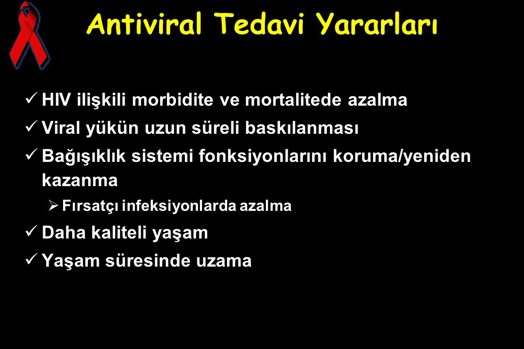 Antiviral Tedavi Yararları