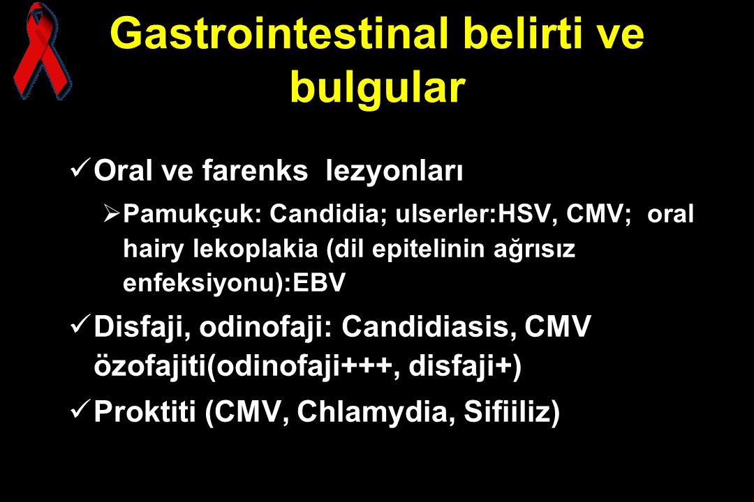 Gastrointestinal belirti ve bulgular