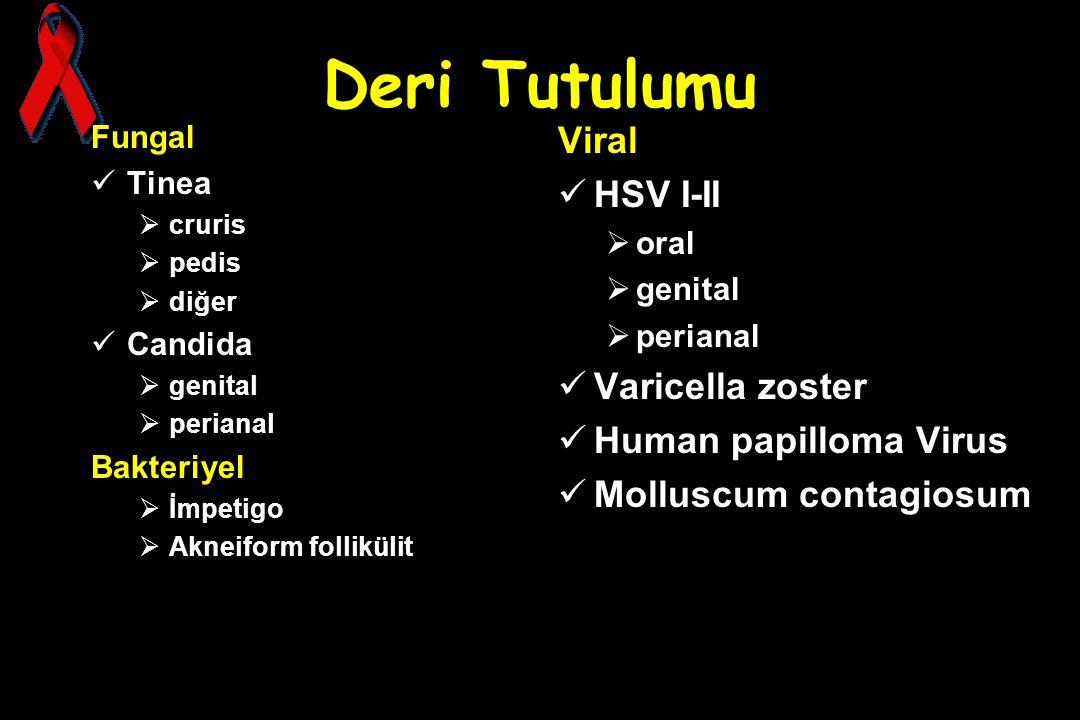 Deri Tutulumu Viral HSV I-II Varicella zoster Human papilloma Virus