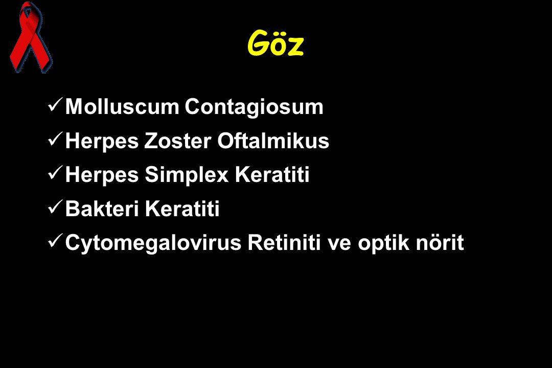 Göz Molluscum Contagiosum Herpes Zoster Oftalmikus
