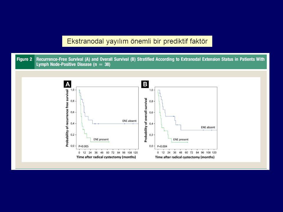 Ekstranodal yayılım önemli bir prediktif faktör