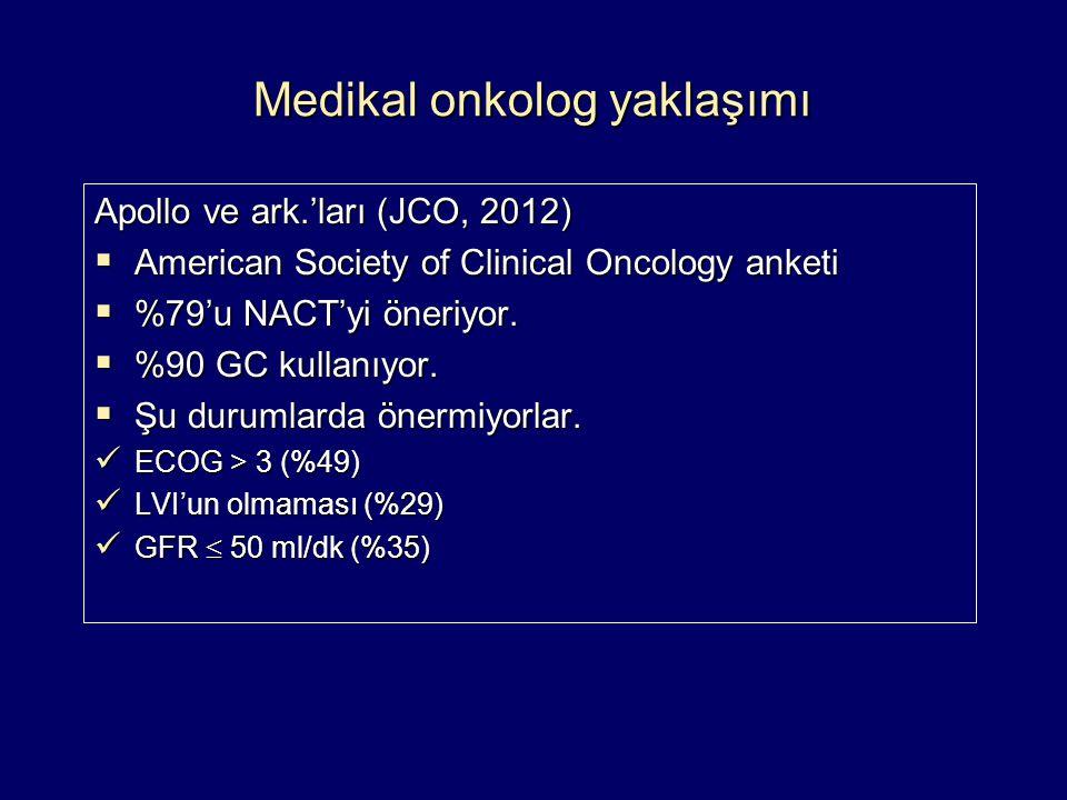 Medikal onkolog yaklaşımı