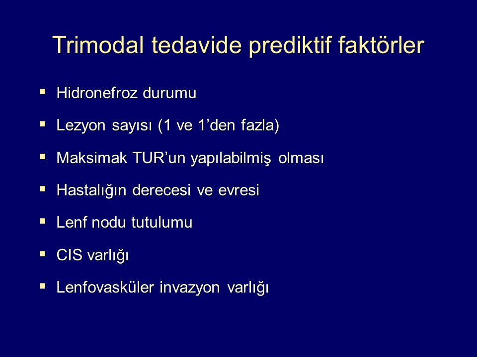 Trimodal tedavide prediktif faktörler