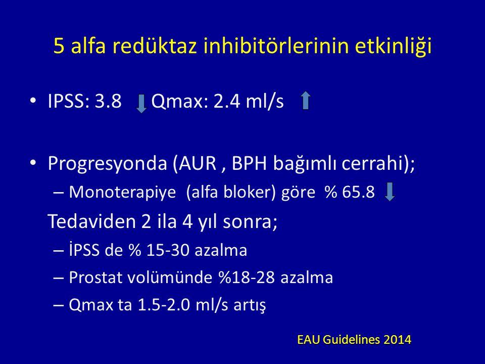 5 alfa redüktaz inhibitörlerinin etkinliği