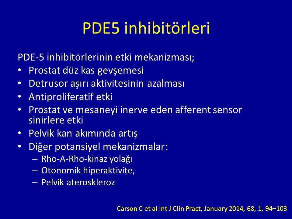 PDE5 inhibitörleri PDE-5 inhibitörlerinin etki mekanizması;