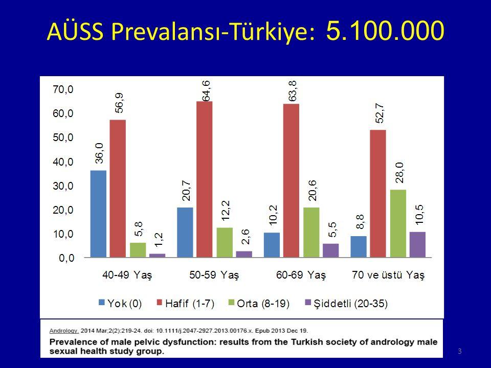 AÜSS Prevalansı-Türkiye: 5.100.000