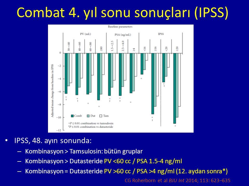 Combat 4. yıl sonu sonuçları (IPSS)