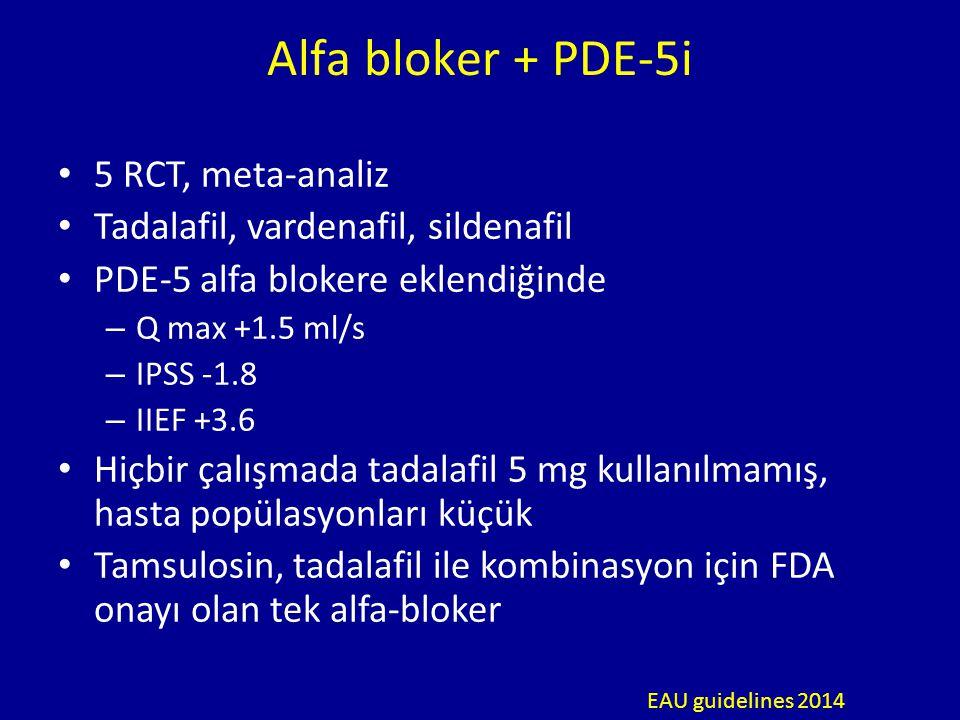 Alfa bloker + PDE-5i 5 RCT, meta-analiz