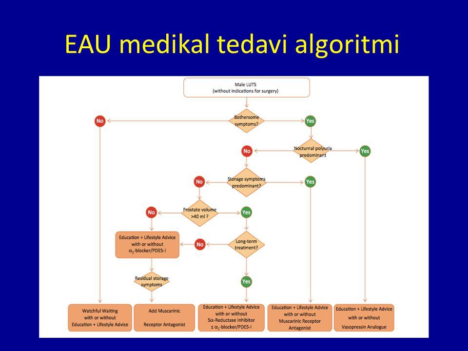 EAU medikal tedavi algoritmi