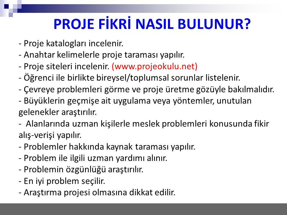 PROJE FİKRİ NASIL BULUNUR