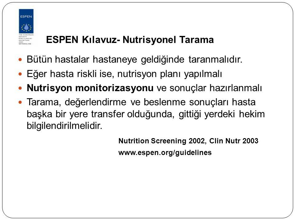 ESPEN Kılavuz- Nutrisyonel Tarama