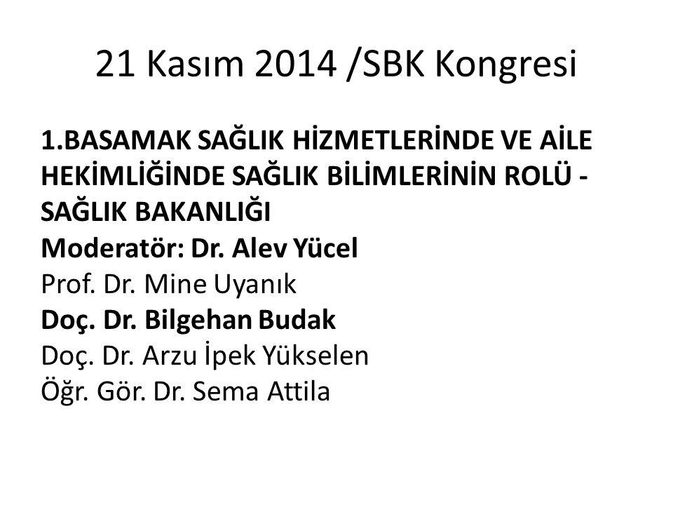 21 Kasım 2014 /SBK Kongresi
