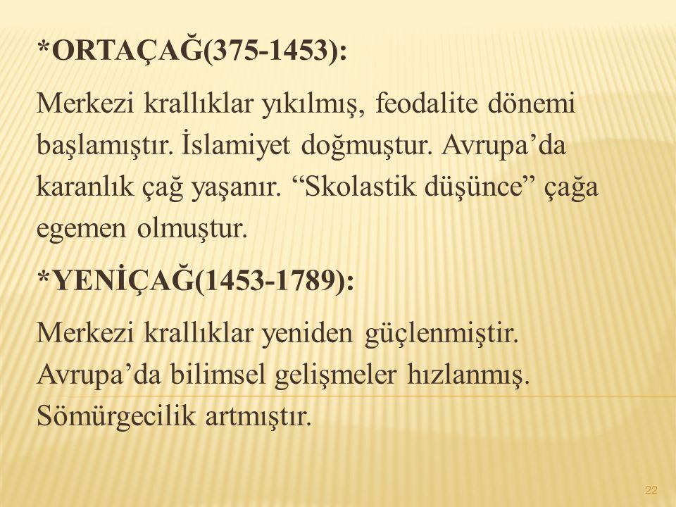 *ORTAÇAĞ(375-1453):