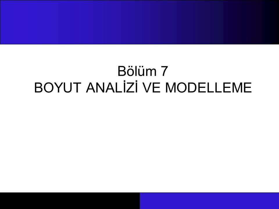Bölüm 7 BOYUT ANALİZİ VE MODELLEME