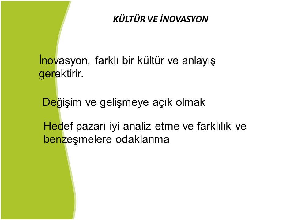 İnovasyon, farklı bir kültür ve anlayış gerektirir.