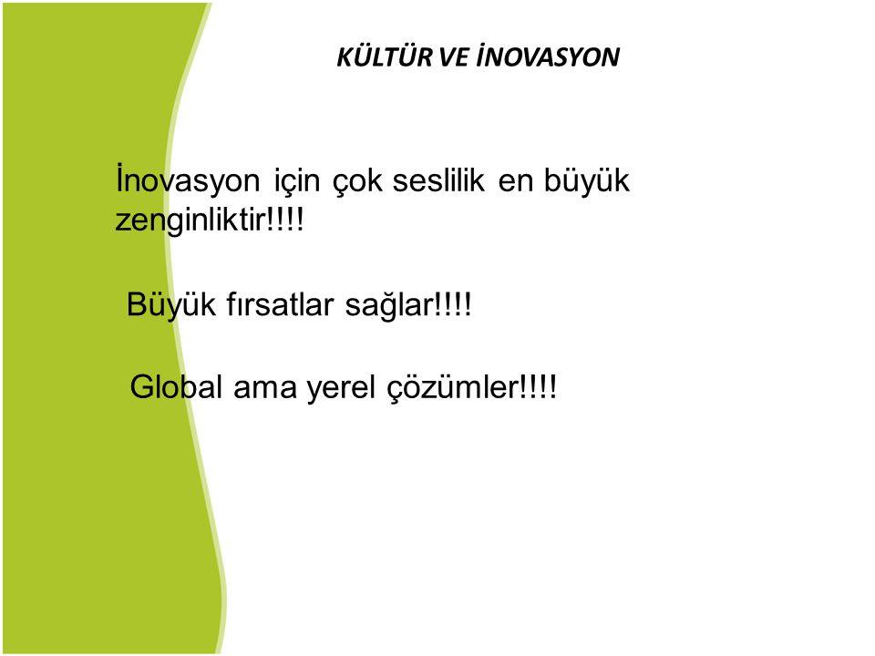 İnovasyon için çok seslilik en büyük zenginliktir!!!!