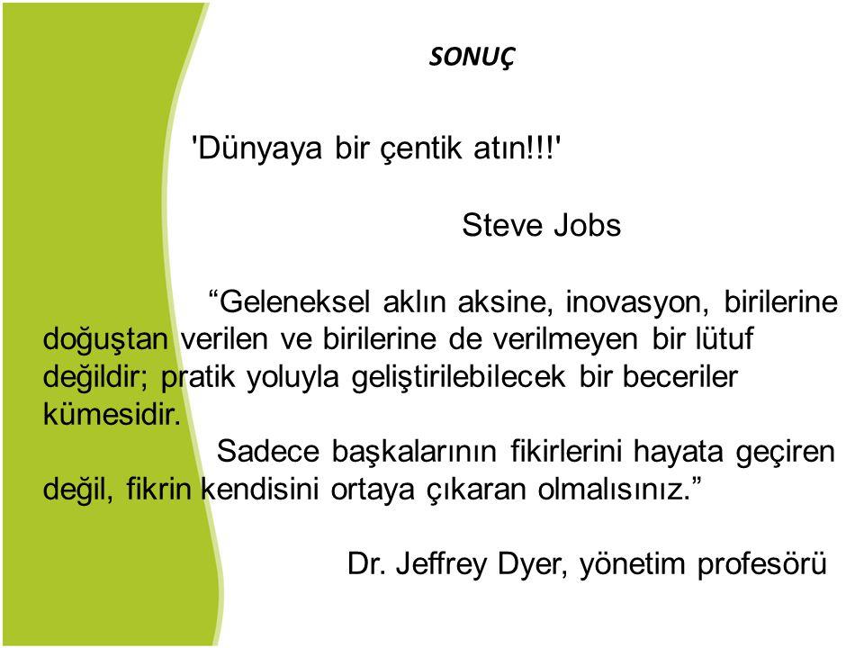 Dünyaya bir çentik atın!!! Steve Jobs