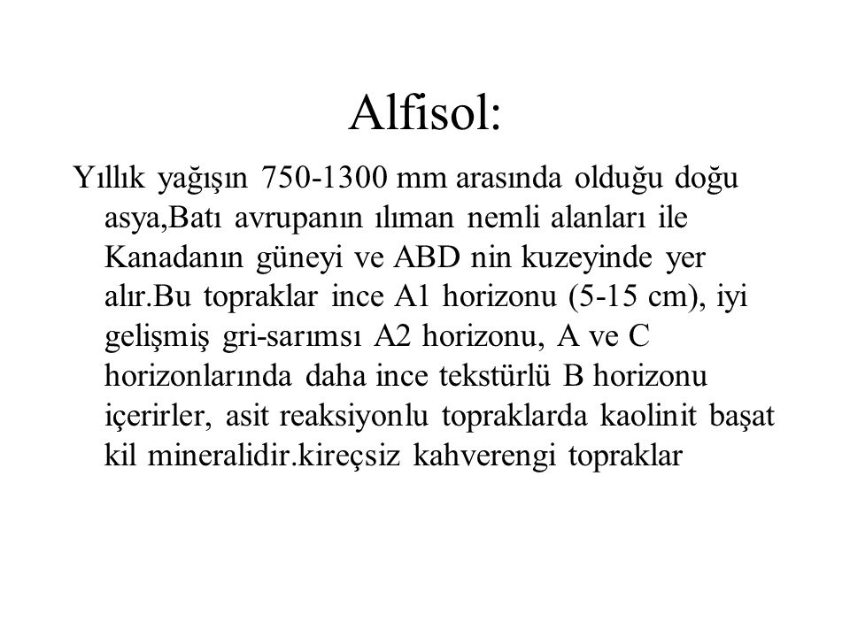Alfisol: