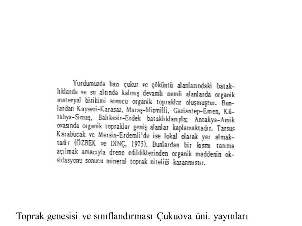 Toprak genesisi ve sınıflandırması Çukuova üni. yayınları