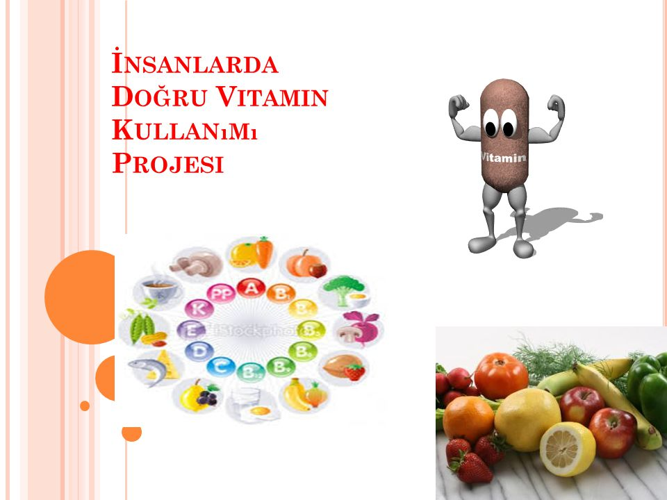 İnsanlarda Doğru Vitamin Kullanımı Projesi