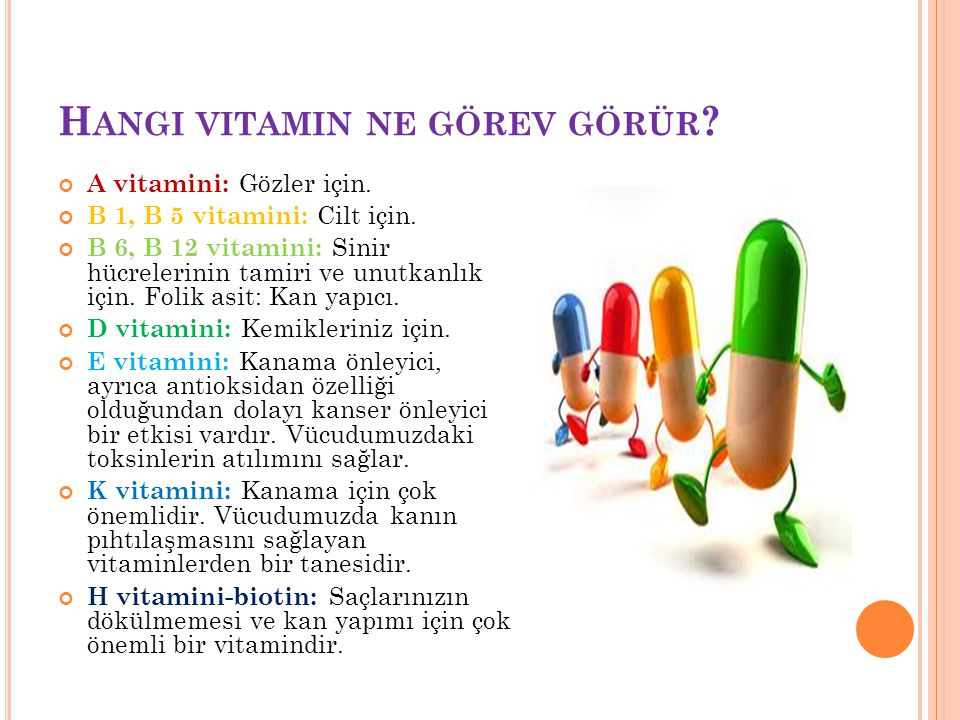 Hangi vitamin ne görev görür
