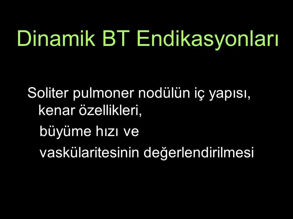 Dinamik BT Endikasyonları