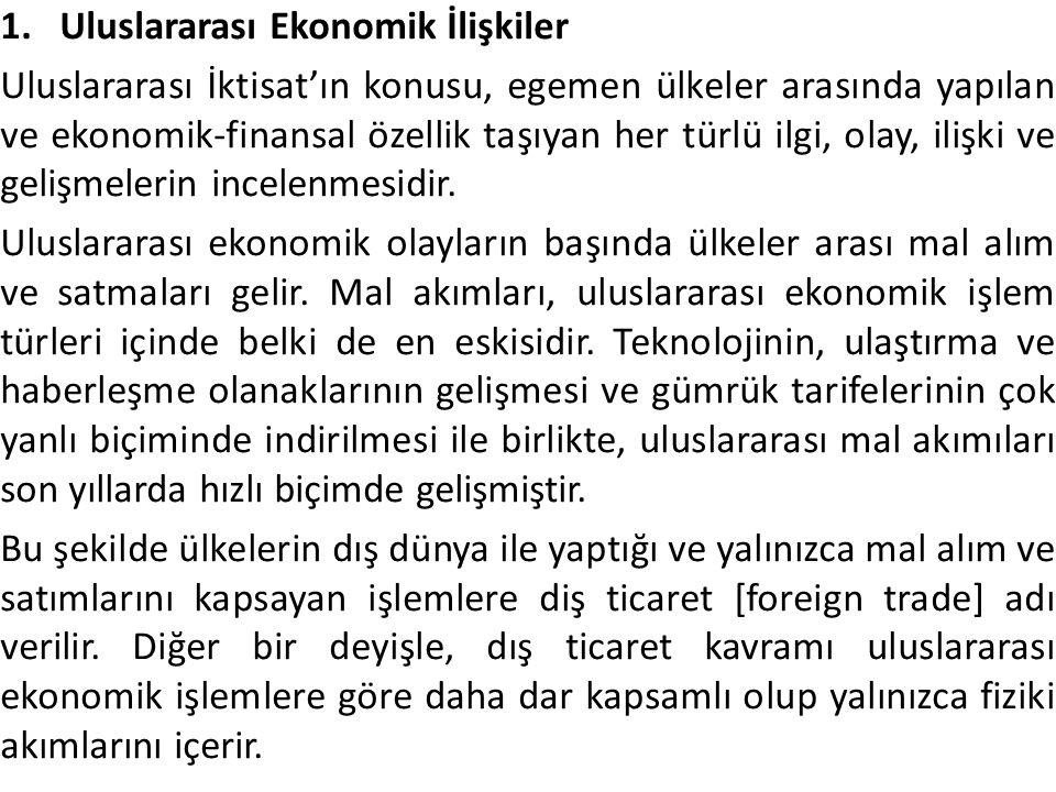 Uluslararası Ekonomik İlişkiler