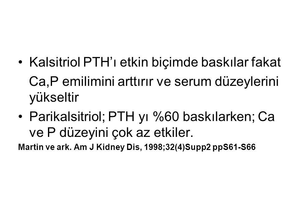 Kalsitriol PTH'ı etkin biçimde baskılar fakat