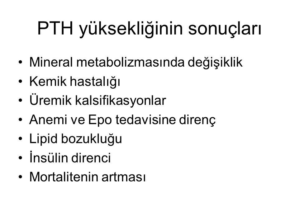 PTH yüksekliğinin sonuçları