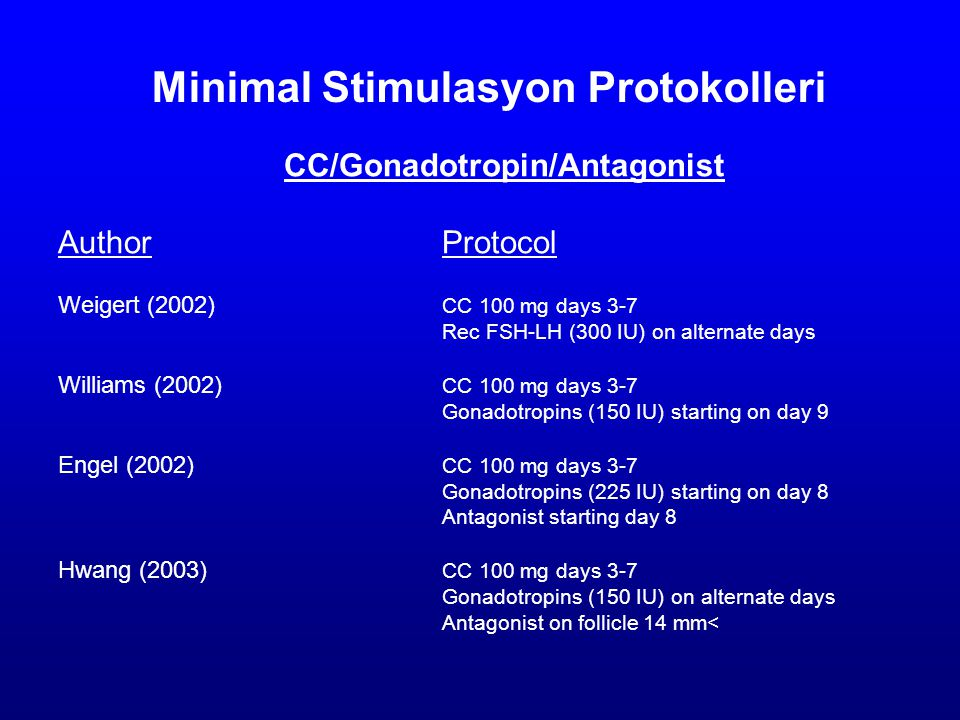 Minimal Stimulasyon Protokolleri