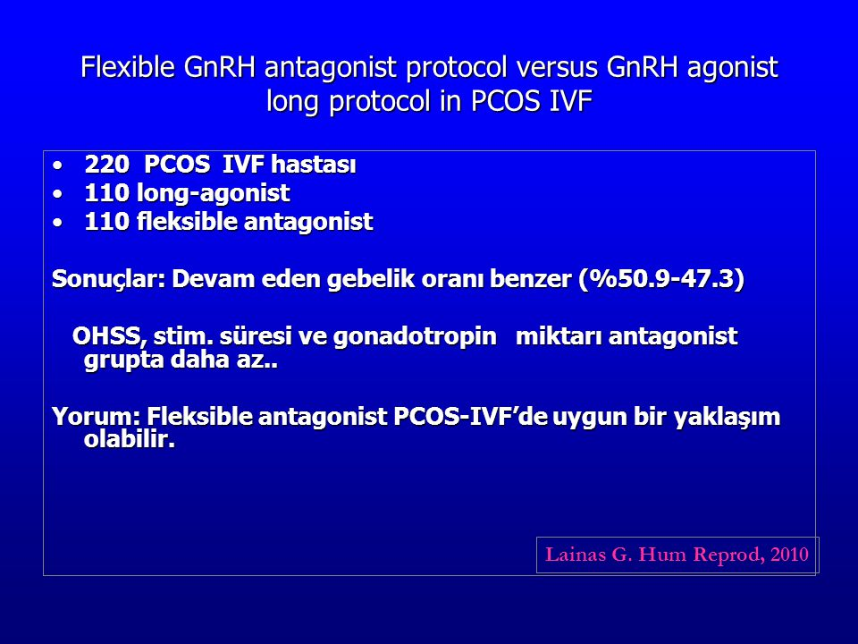 Flexible GnRH antagonist protocol versus GnRH agonist long protocol in PCOS IVF