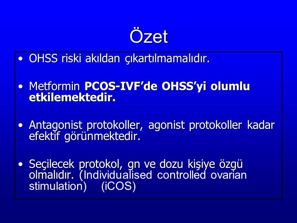 Özet OHSS riski akıldan çıkartılmamalıdır.