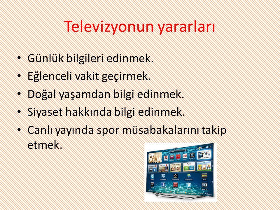 Televizyonun yararları