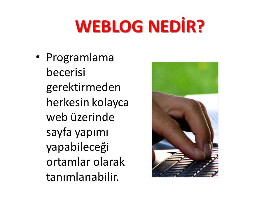 WEBLOG NEDİR.