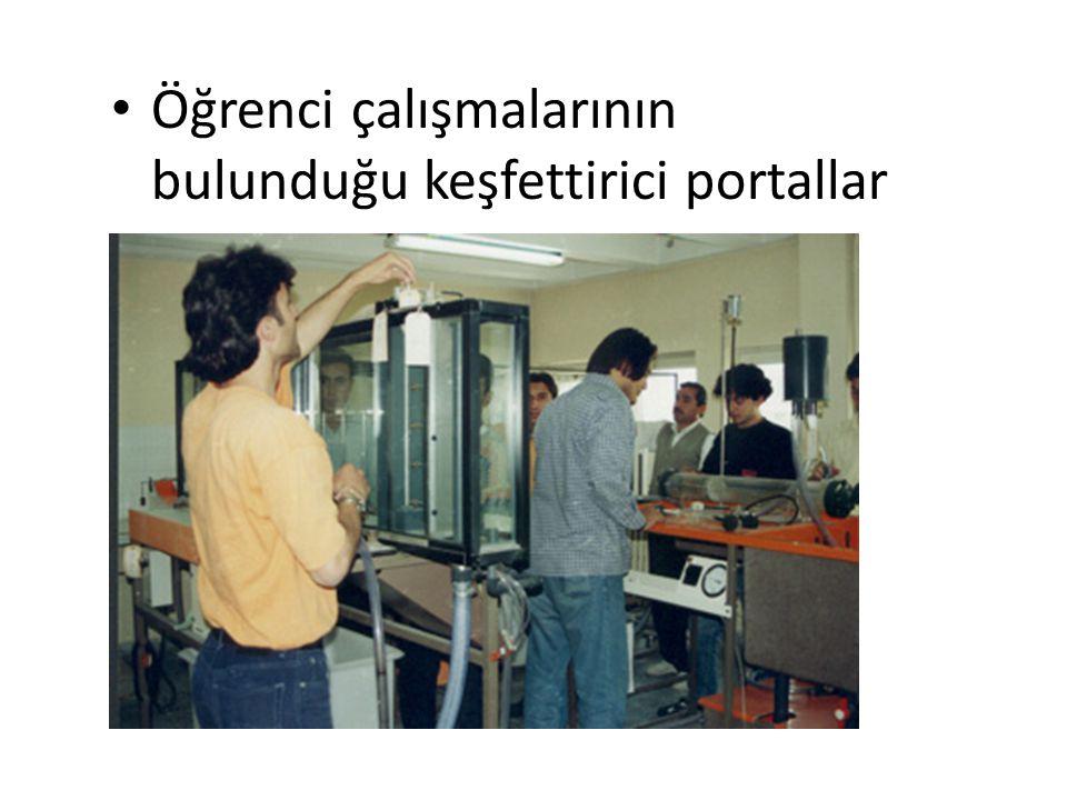 Öğrenci çalışmalarının bulunduğu keşfettirici portallar