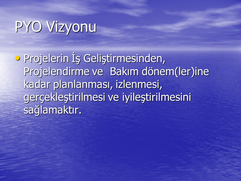 PYO Vizyonu