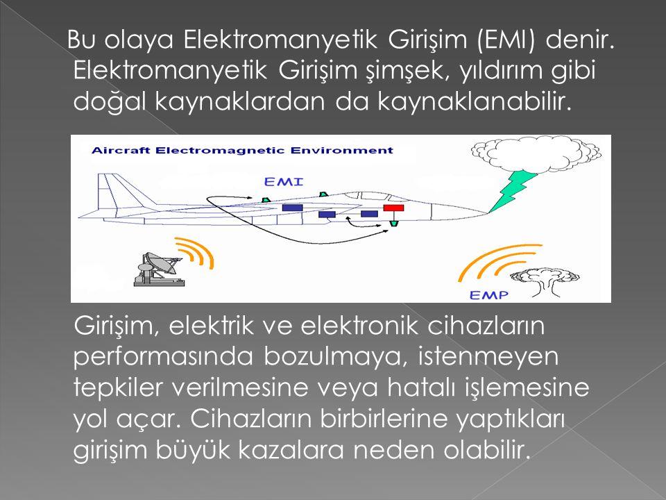 Bu olaya Elektromanyetik Girişim (EMI) denir