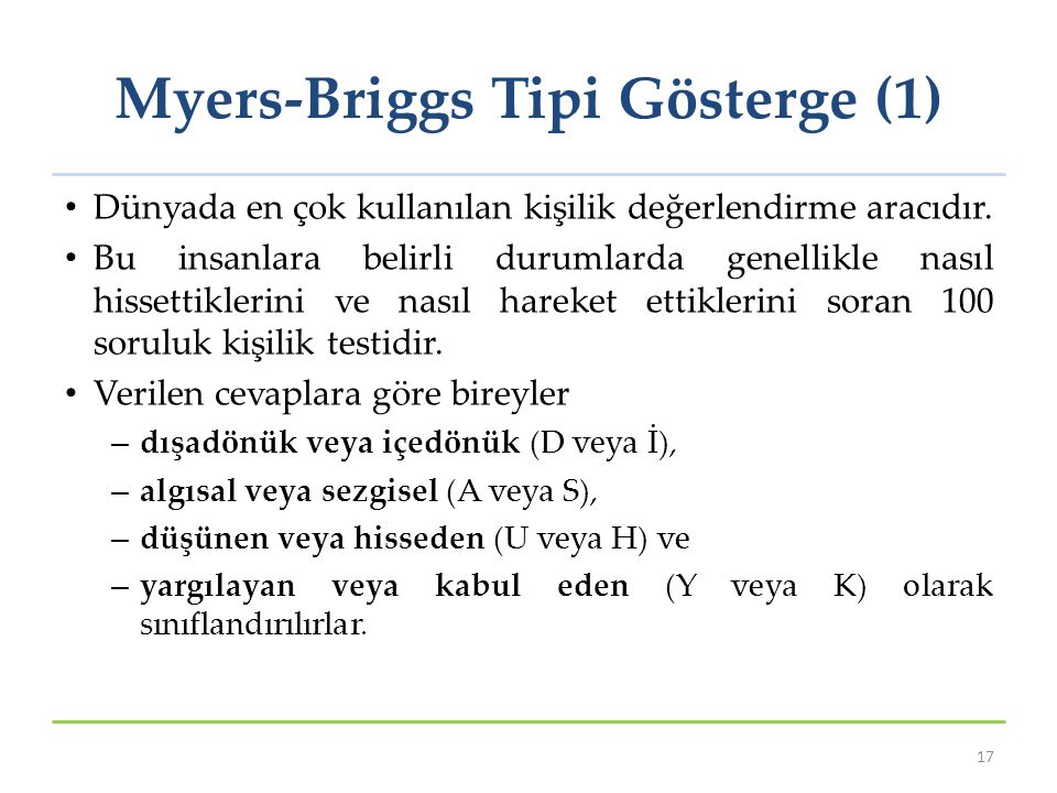 Myers-Briggs Tipi Gösterge (1)