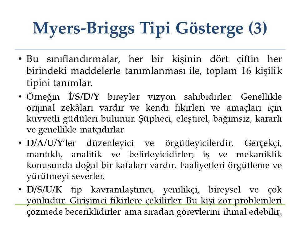 Myers-Briggs Tipi Gösterge (3)