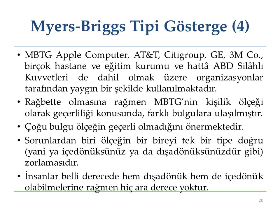 Myers-Briggs Tipi Gösterge (4)