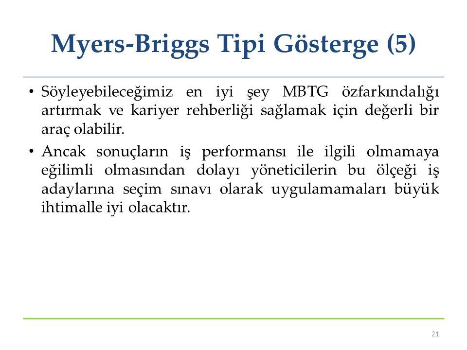 Myers-Briggs Tipi Gösterge (5)
