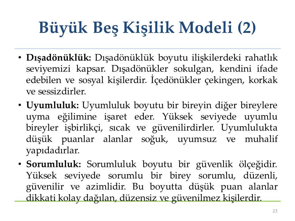 Büyük Beş Kişilik Modeli (2)