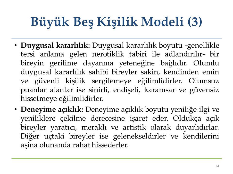 Büyük Beş Kişilik Modeli (3)