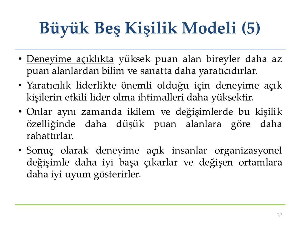 Büyük Beş Kişilik Modeli (5)