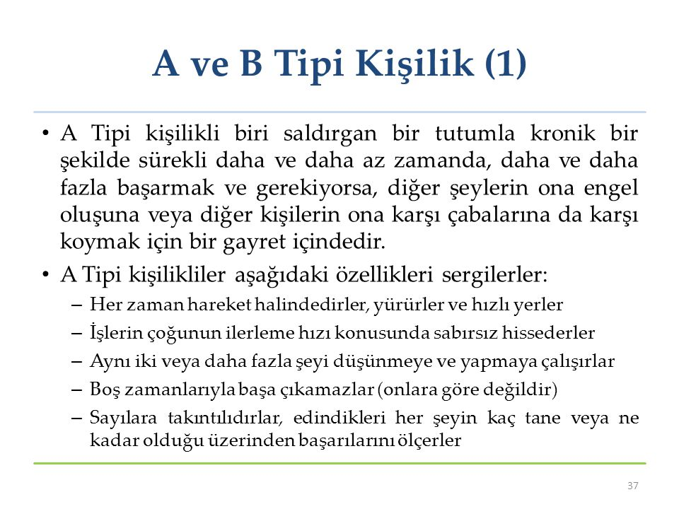 A ve B Tipi Kişilik (1)