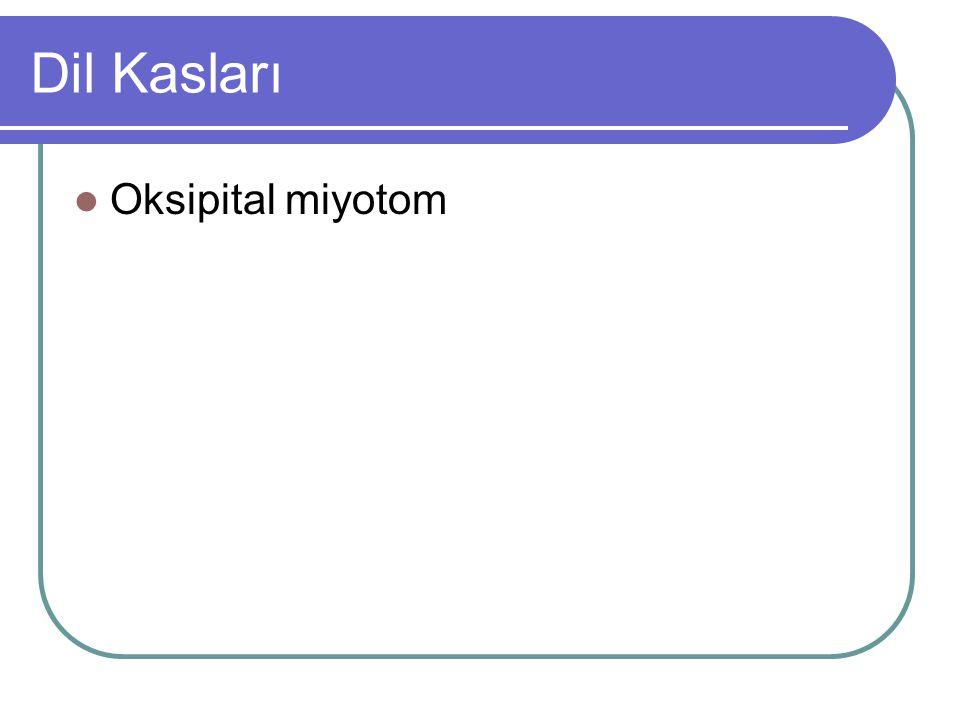 Dil Kasları Oksipital miyotom